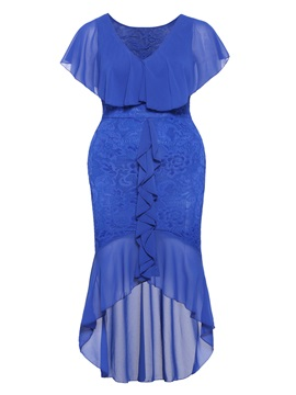 Tidebuy Lace Plusee Patchwork Women's Bodycon Dress