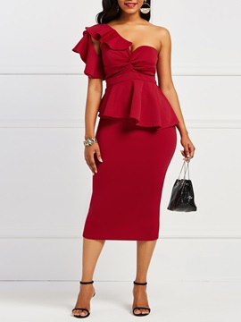Off-The-Shoulder Backless Women's Bodycon Dress