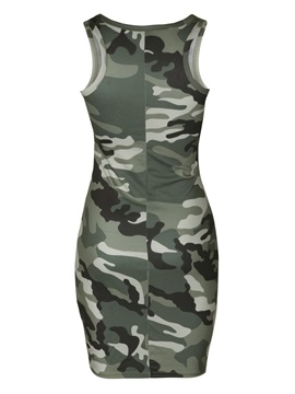Camouflage Sleeveless Scoop Women's Dress