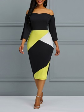 Polyester Backless Pencil Women's Bodycon Dress