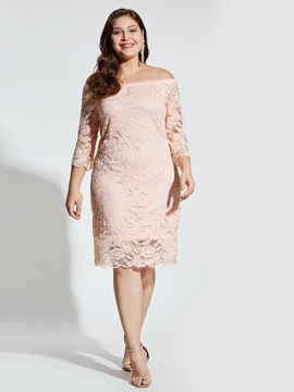 Lace Backless Hollow Women's Bodycon Dress