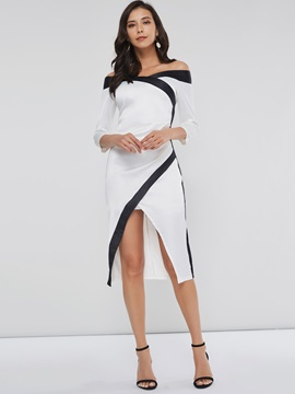 Off Shoulder Slit Women's Bodycon Dress