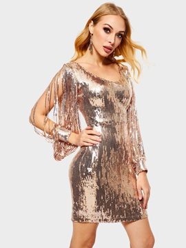 Long SleeveV-Neck Party/Cocktail Women's Bodycon Dress