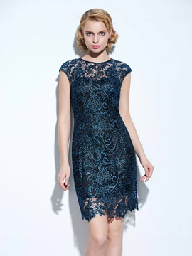Vintage Floral Print Backless Lace Dress