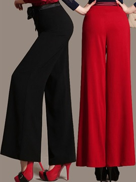 Elegant High-Waist Lace-Up Flared Pant