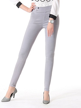 Slimming High-Waist Three-Button Designed Pant