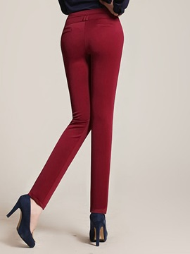 Skinny High-Waist Elastic Pencil Pant