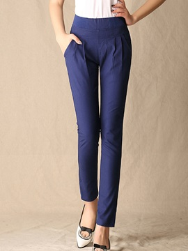 Straight-Leg Pleated Pant