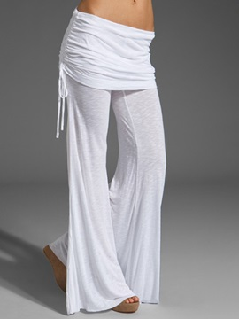 Simple Side-Tie Loose-Fit Pant