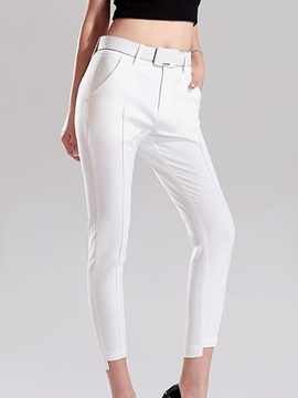Chic Pleated Asymmetrical Pencil Pant