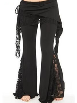 Chic Lace See-Through Ruffle Pant