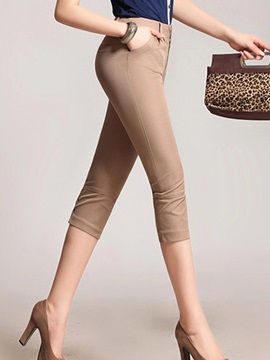Curvy-Fit Candy Color Pencil Pant