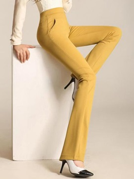 Candy Color Wear To Work Palazzo Pants