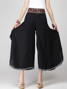 Ethic Palazzo Pleated High Waist Pants