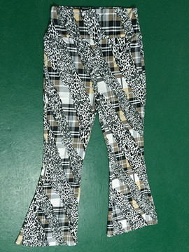 Leopard Floral Printed Palazzo Pants