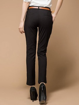 Solid Color Formal Wear To Work Pants