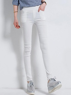 Candy Color Slim Casual Pants