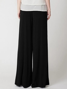Solid Color Palazzo Casual Pants