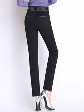 Black Wear To Work Casual Pants