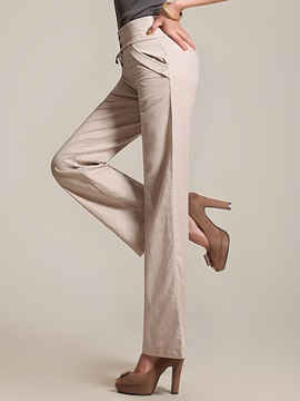 High Waist Buckle Bowknot Palazzo Pants