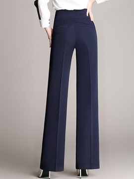 Buckle High Waist Wear To Work Formal Pants