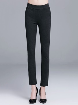 Black Slim Casual Pants