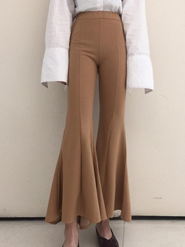 Slim Elastics Bellbottoms Casual Pants