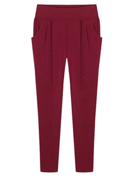 X-Wide Elastic Harem Casual Pants