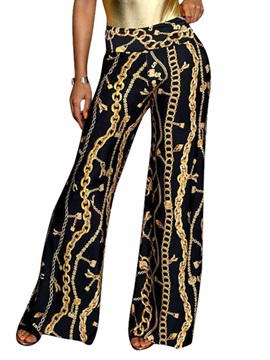 High-Waist Print Women's Casual Pants