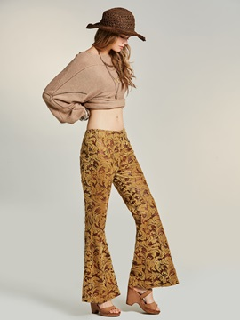 Print Wide Leg Women's Pants
