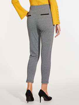 Slim Plain Button Women's Harem Pants