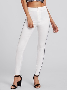 Skinny Side Striped Thin Women's Casual Pants