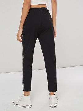 Side Stripe Slim Women's Casual Pants