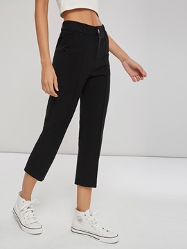 Straight Patchwork Women's Casual Pants