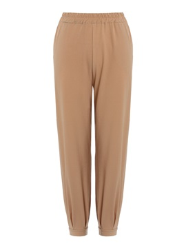 Loose Elastics Plain Full Length Women's Casual Pants