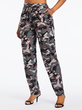 Loose Camouflage Harem Pants High Waist Women's Casual Pants