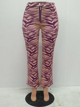 Wavy Printed  Flared Women's Casual Pants