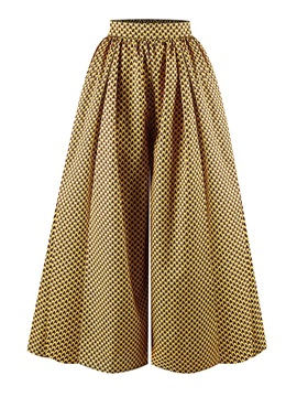 Print African Fashion Color Block Loose Full Length Wide Legs Women's Casual Palazzo Pants