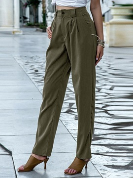 Plain Loose Harem Pants Full Length Women's Casual Pants