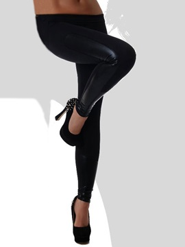 Black Low Waist Stretch Leggings