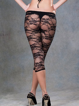 Delicate Polyester Lace Leggings
