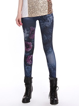 Skinny Flower Printing Leggings