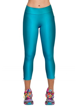 Plain Slimming Polyester Leggings