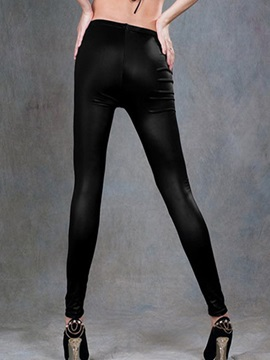 PU Thickening Ninth-Length Leggings