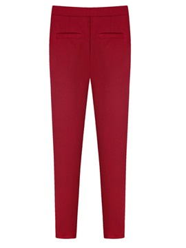 Solid Color Pocket Decorated Leggings