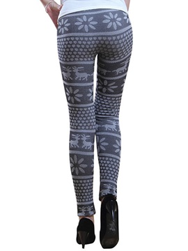 Floral Printing Thicken Women's Leggings