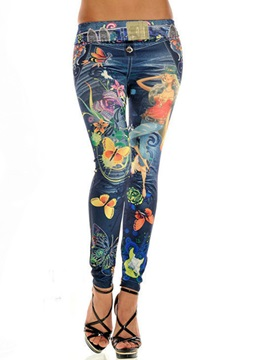 Slimming Cotton Print Leggings