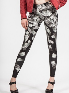 Skinny Dollar Printing Women's Leggings