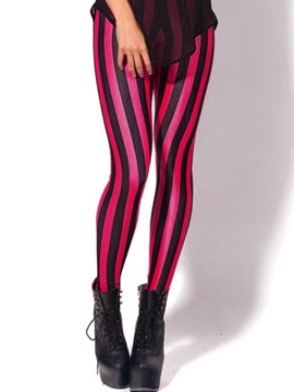 Glamour Stripe Designed Leggings