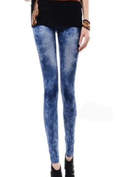 Skinny Polyester Worn Pencil Leggings